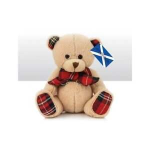 """Teddy Bear  """"Scott""""  6"""" tall Stewart Tartan   UK Seller"""