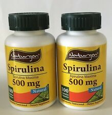 2 SPIRULINA 500 MG (100 CAPSULES x BOTTLE)