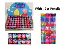10 x Peppa Pig Self-inking Stamp Birthday Party Favors Stampers and 12ct pencils