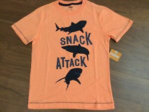 New Gymboree Cape Cool Orange Snack Attack Shark T-shirt Size 10