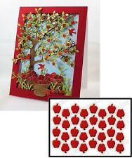 Impression Obsession TINY APPLES Die Set Thin Steel DIE203-A 1/4 inch
