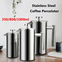 350/800/1000ml Cafetiere French Press Coffee Tea Filter Plunger Double Walled*