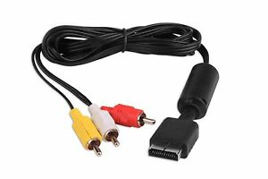New 6 ft AV Composite Audio Video Cable for Sony Playstation PS1 PS2 & PS3