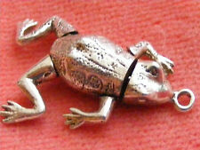 VINTAGE STERLING SILVER CHARM ARTICULATED FROG MOVES