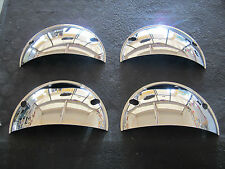 5 3/4 HEADLIGHT HEADLAMP CHROME TRIM HALF MOON COVERS ANY CAR TRUCK