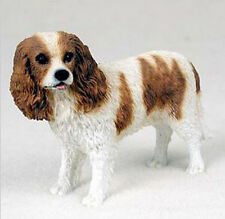 CAVALIER KING CHARLES SPANIEL DOG Figurine Statue Hand Painted Resin Gift Pet