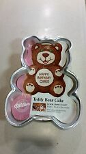 Wilton Cake Pan Mold Teddy Bear Vintage 1986 with instructions and Picture