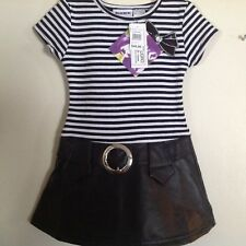 Little Girls SZ 2T Drop Waist Pleather Dress by Blueberi boulevard Ret. $40 NWT