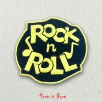 Rock N Roll Music Rockabilly Iron on Sew on Embroidered Patch#112