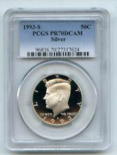 1993 S 50C Silver Kennedy Half Dollar Proof PCGS PR70DCAM