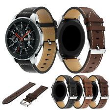 Leather Wristband Watch Replacement Bracelet Strap for Samsung Galaxy Watch 46mm