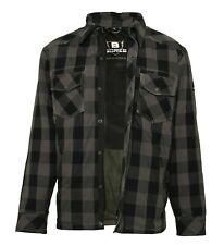 3XL Bores Lumberjack Motorrad Hemd mit Bortexx Aramid Biker Style grau/schwarz