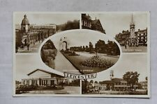 More details for postcard leicester multi-view leicestershire posted postmark 1942 real photo rp