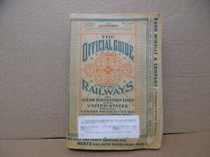1956 December Official Guide Of Railways Steam Navigation Lines of United States