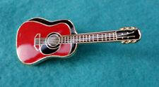 ZP162 Classical Torres Red Acoustic Guitar Enamel Lapel Pin Badge Parlour