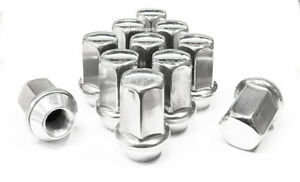 24 Stainless Steel 14x1.5 OEM Stock Factory Lug Nuts Chevrolet GMC Buick 7/8 Hex