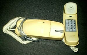 Vintage Yellow Pushbutton Slimline Wired Telephone Conair
