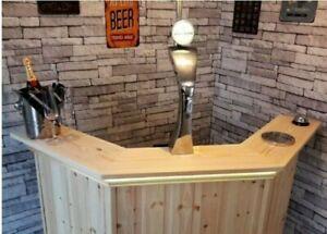 Corner Home Drinks Bar Perfect For Summerhouse,Mancave,Home & Garden