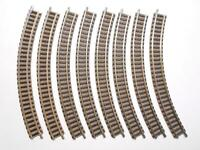 8x Fleischmann Spur N 9120 Gebogenes Gleis R1 Vollkreis