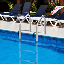 More details for stainless steel in ground swimming pool ladder 3-step safe handrail escalator