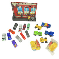 Vintage 1990s Tonka Mixed Job Lot 7 Plastic Trucks 11 Diecast Vehicles 1 Playset