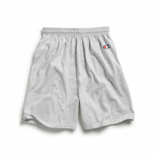 Champion 8187 Adult Cotton Gym Shorts Silver Grey Medium