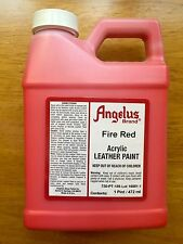 Angelus Fire Red acrylic leather paint Pint Size/16 oz