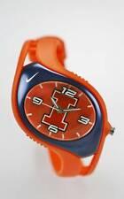 Nike Triax Uhr Illinois College Team Logo Orange Blau 50m R Batterie Quarz