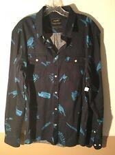 WeSC Navy / Royal Blue 100% Cotton Button Down Large