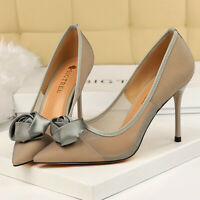 Women Dress Pumps Closed Pointed Toe Stilettos High Heel Wedding Sandals Shoes