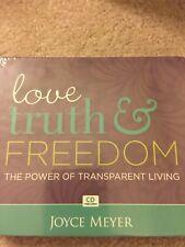 Joyce Meyer Ministries CD's love truth & Freedom Power of Transparent Living CD