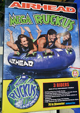 "Airhead Mega Ruckus 70"" 3 person Towable Ski PVC Inner Tube Waterski  tow raft"