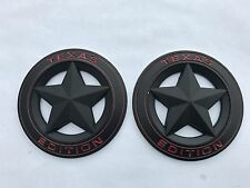 2X NEW TEXAS EDITION STAR BLACK LOGO DODGE RAM 1500 2500 FENDER TAILGATE EMBLEM