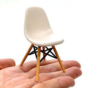 DSW Dinning Chair-1 piece-WHITE. 1/12 scale Miniature Mid-Century Designer Chair