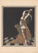 Nijinsky & Ida Rubinstein in Schéhérazade  George Barbier Vintage Ballet Poster
