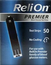 50 Count NEW ReliOn Premier Blood Glucose Test Strips EXP:AUG/2021 FREE SHIPPING