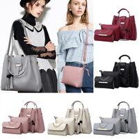 NEW 3pcs Women Leather Handbag Shoulder Bags Tote Purse Messenger  Zipper Bag