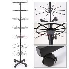 7 Tier Hat Cap Display Stand Retail Rotating Adjustable Hanger Rack Organizer