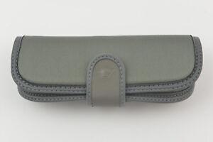 NEW Emporio Armani Sunglasses/Eyeglasses - Gray- Soft Snap Button Case/Pouch