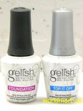 Nail Harmony Gelish Foundation Base Coat & Top It Off Coat 15ml/0.5fl.oz Due Kit