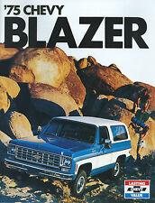 1975 CHEVROLET  BLAZER  SALES BROCHURE- 2 WD C10 & 4WD K10