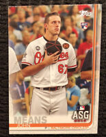 2019 Topps Update John Means RC #223 Rookie Card Orioles No Hitter QUANTITY