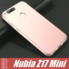 Bundle Cover Case + Vetro Temperato Nubia Z17 Mini Sandstone Design Frosted Tpu