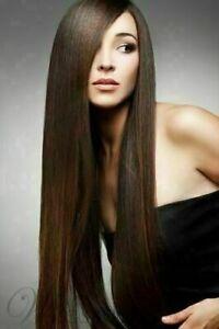 100% Human Hair New Fashion Charm Long Light Brown Smooth Straight Women's Wigs