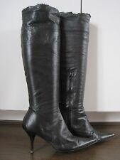 KURT GEIGER black butter soft all leather over knee boots size 4 (37) RRP £329*