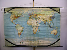 Schulwandkarte muro mapa schulkarte tierra mundo mapa del mundo uso World 224x154 cm