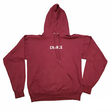 """B9 Chance The Rapper """"3"""" Tour Hanes Mens Maroon Long Sleeve Pullover Hoodie Sz M"""