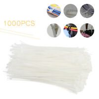 """Natural White 400 Pack Lot Pcs Qty 6/"""" Inch Nylon Cable Zip Wire Tie 40 lbs"""