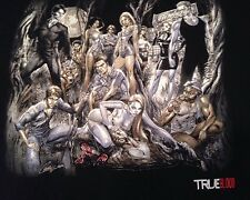True Blood Vampire Cast T Shirt HBO Art by J. Scott Campbell XL Cotton Black