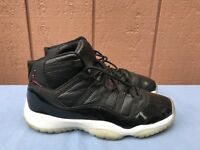 EUC NIKE AIR JORDAN XI 11 RETRO 72-10 US 7Y BLACK RED WHITE BRED 378038-002 A7